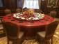 家用电动餐桌定制生产豪华不锈钢回转输送带餐桌 酒店实木电动桌