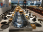 新中式火锅餐桌 旋转火锅设备 涮烤一体回转火锅设备 转转小火锅设备